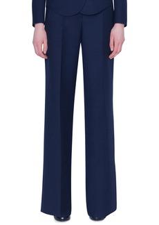 Akris Wide-Leg Double-Face Wool Pants