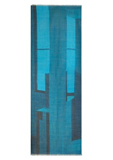 Akris Window Print Cashmere & Silk Scarf