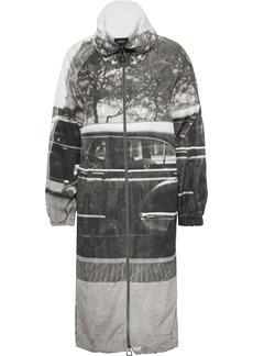 Akris Woman Mafalda Printed Shell Jacket Gray
