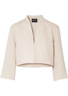 Akris Woman Romain Linen And Wool-blend Jacket Neutral