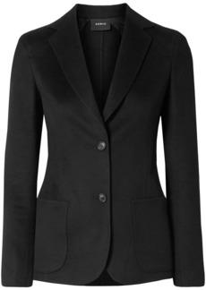 Akris Woman Saigon Wool And Cashmere-blend Jacket Black