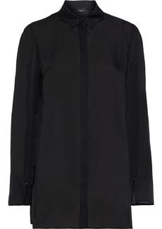 Akris Woman Silk Crepe De Chine Shirt Black