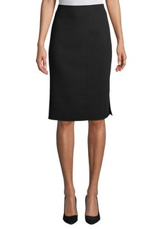 Akris Wool-Blend Knee-Length Pencil Skirt