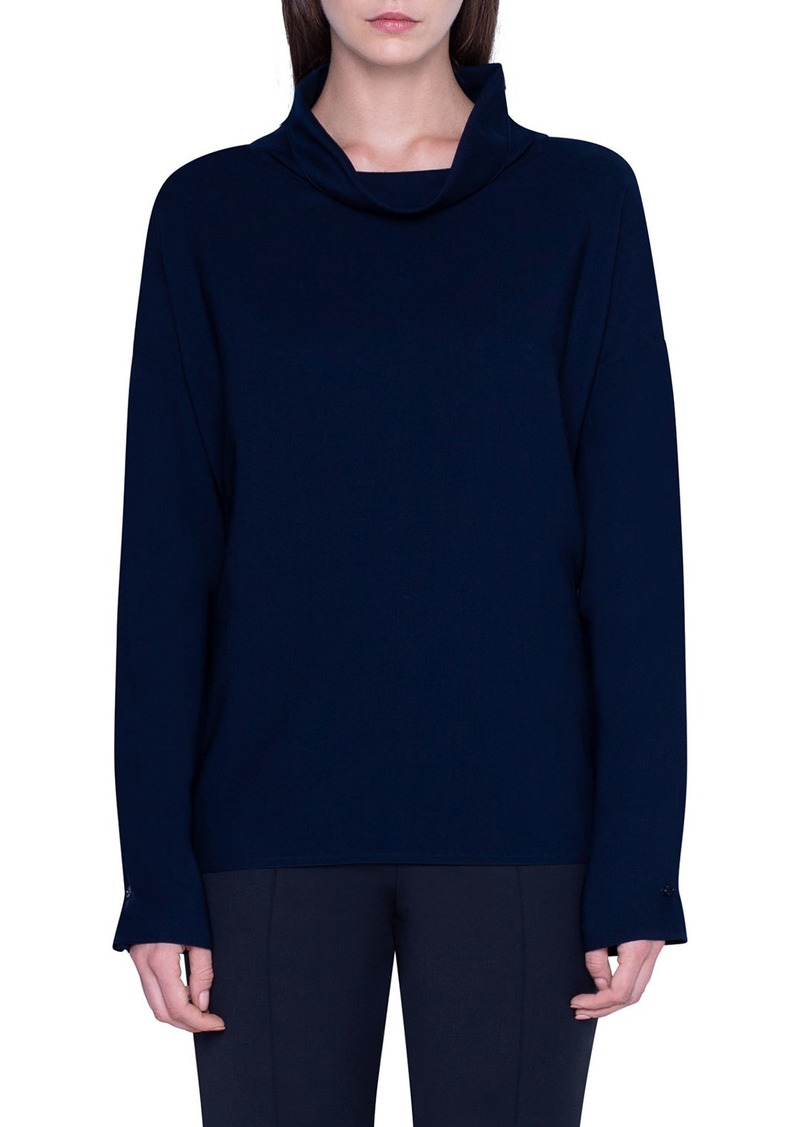 Akris Wool Cowl-Neck Tunic