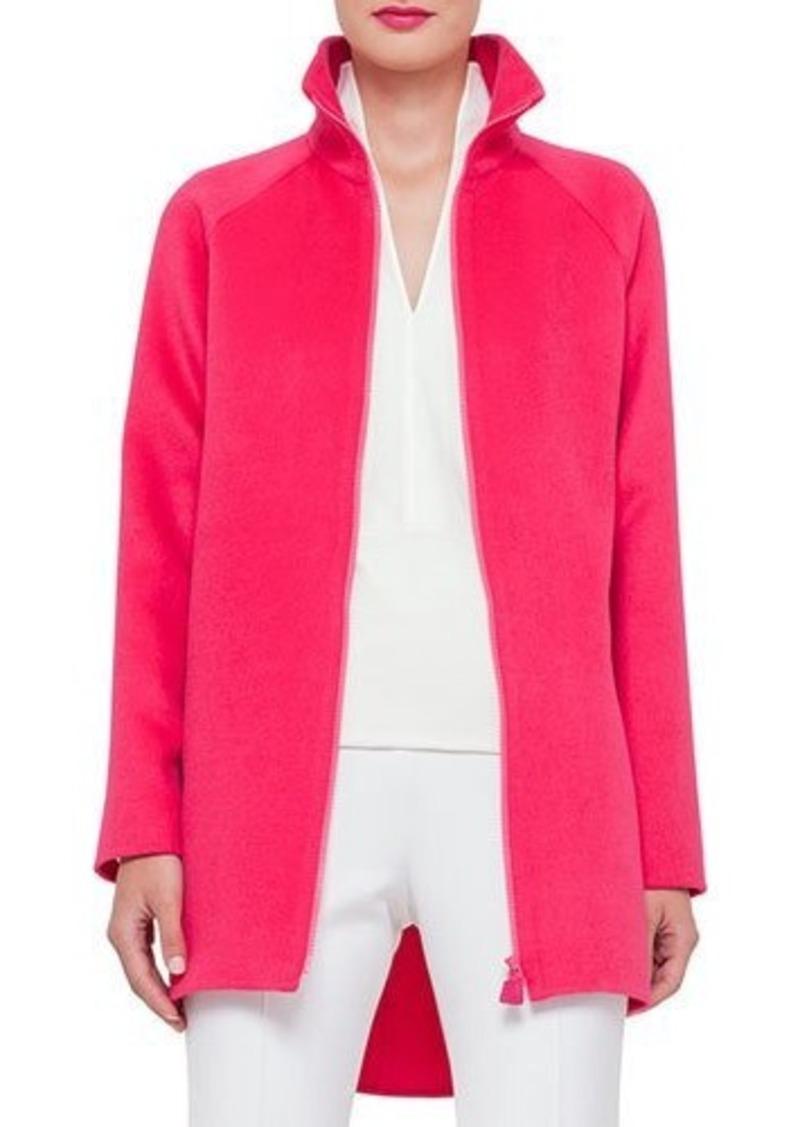 Akris Zip-Front Cashmere Parka Jacket