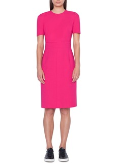 Akris Zip Waist Double Face Wool Blend Dress