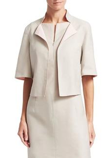Akris Aloe Reversible Short Sleeve Cotton Jacket