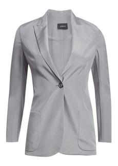 Akris Amandine Silk Crepe Blazer Jacket