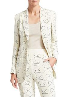 Akris Amarina Leporello Silk Printed Blazer