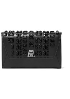 Akris Anouk Envelope Embellished Leather Clutch