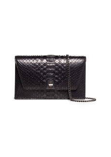 Akris Anouk Python Snakeskin Envelope Clutch Bag