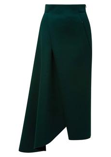 Akris Asymmetric Neoprene A-Line Skirt