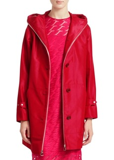 Akris Bellevue Two-in-One Hooded Coat