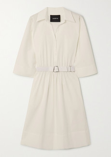 Akris Belted Cotton-poplin Shirt Dress