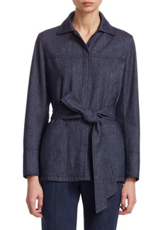 Akris Belted Flannel Shirt