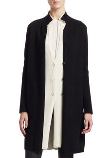 Akris Bi-Color Double Layer Cashmere Knit Coat