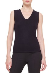 Akris Bicolor Reversible Cashmere-Blend Jersey Top