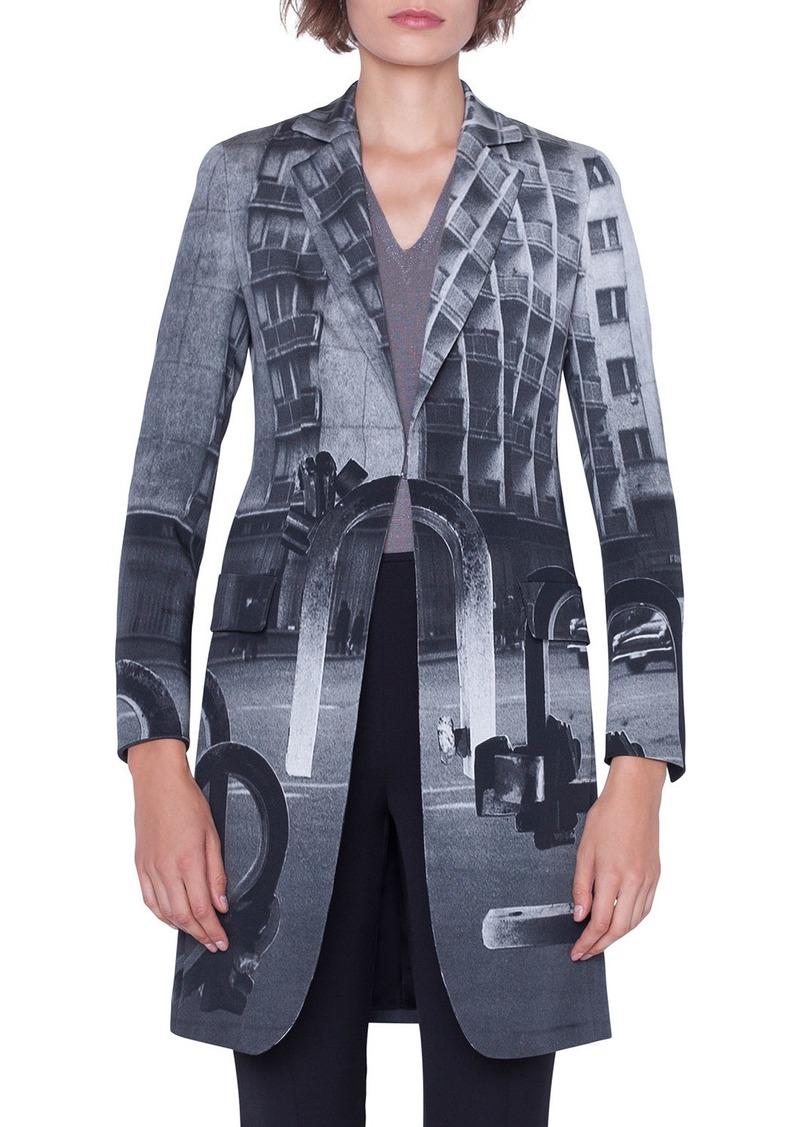Akris Bloom Magnets Print Short Coat