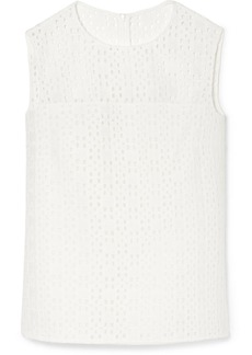 Akris Broderie Anglaise Top
