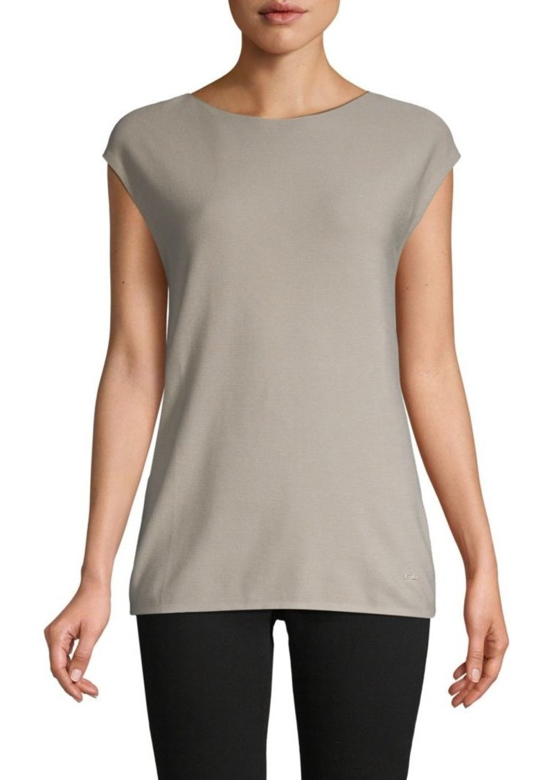 Akris Cap-Sleeve Cotton Top