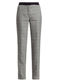 Akris Carl Plaid Stretch Wool Pants