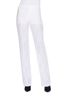 Akris Carl Scribble SG Embroidered Illusion Pants