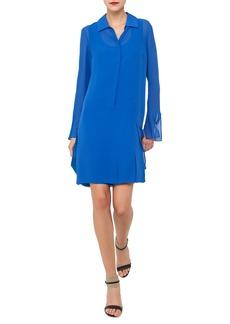 Akris Carwash Long-Sleeve Silk Georgette Shirtdress
