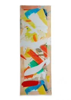 Akris Cashmere & Silk Stroke On Paper Printed Scarf