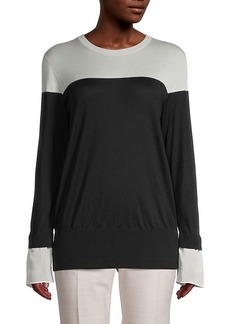 Akris Cashmere & Silk Twofer Sweater