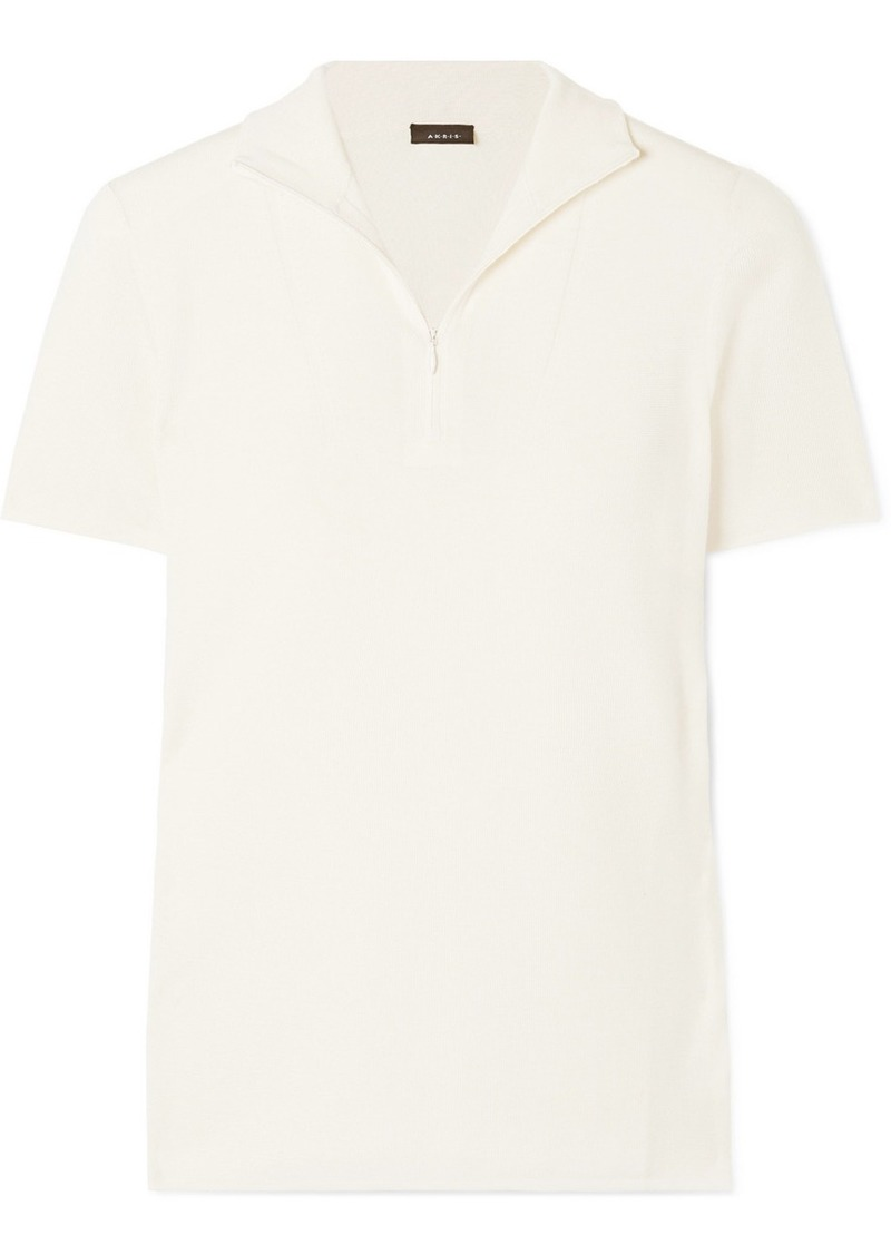 Akris Cashmere And Silk-blend Turtleneck Top