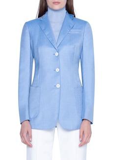 Akris Cashmere Notched-Collar Jacket