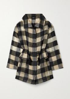 Akris Checked Mulberry Silk-organza Jacquard Jacket