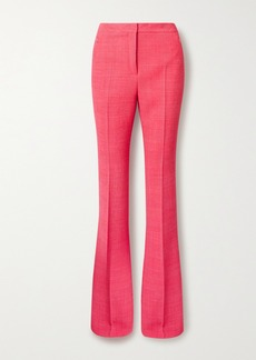 Akris Checked Wool-blend Flared Pants
