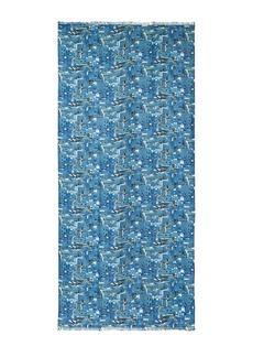 Akris Chefchaouen print scarf