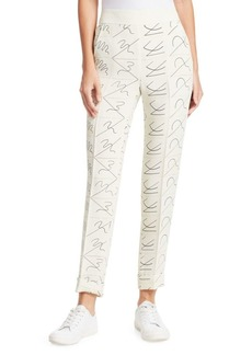 Akris Chris Leporello Printed Silk Pants