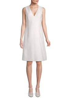 Akris Classic V-Neck A-Line Dress