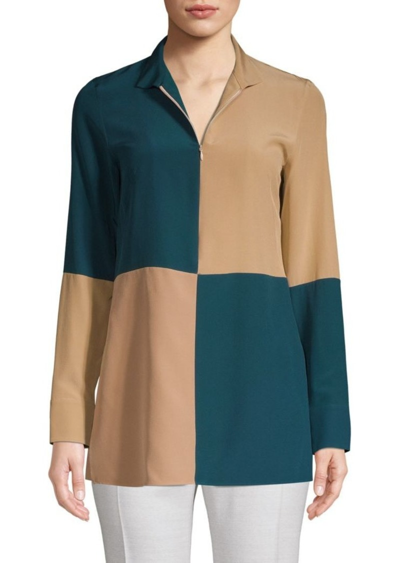 Akris Colorblock Blouse