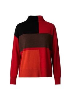 Akris Colorblock Cashmere Sweater
