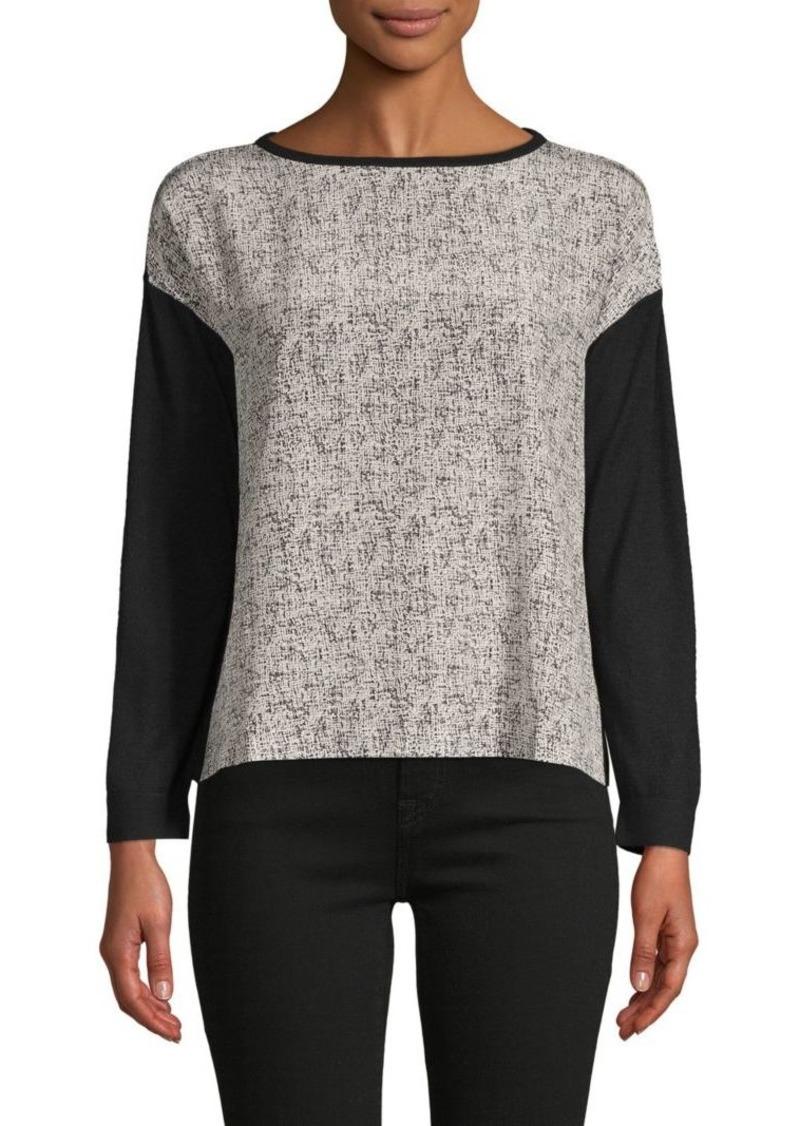 Akris Colorblock Silk & Cashmere Sweater