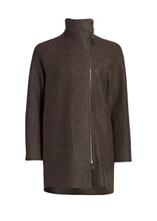 Akris Coralee Asymmetric Cashmere Short Coat