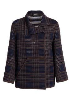 Akris Corinna St. Gallen Plaid Cropped Jacket