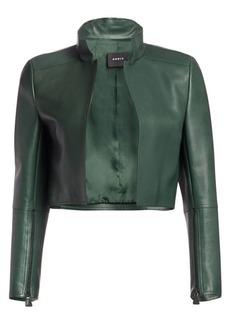 Akris Cropped Leather Jacket