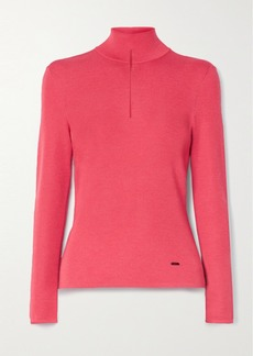 Akris Cutout Cashmere-blend Turtleneck Sweater