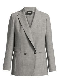 Akris Dandre Micro Houndstooth Wool Blazer Jacket