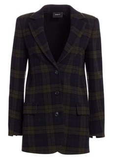Akris Datson Wool Flannel Plaid Jacket