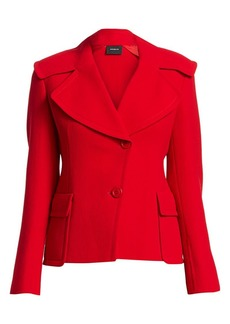 Akris Dava Oversize Collar Jacket