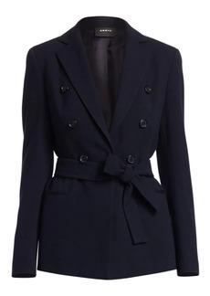 Akris Demas Self-Tie Wool Jacket