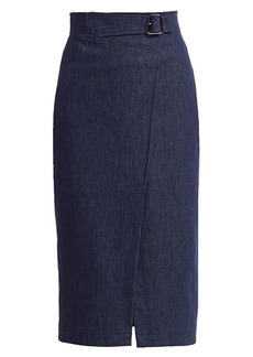 Akris Denim Pencil Skirt