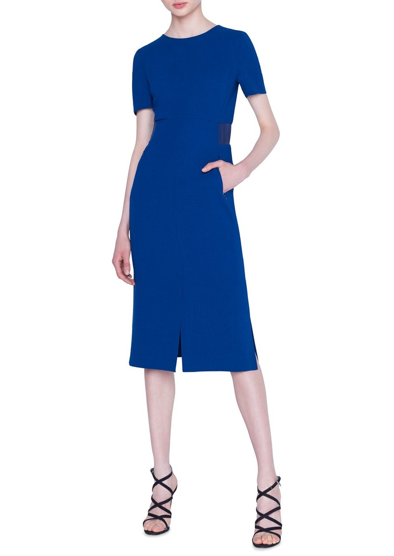 Akris Double-Face Wool Crepe Sheath Dress