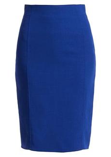 Akris Double Face Wool Pencil Skirt